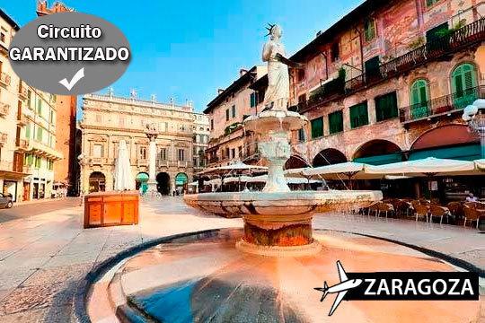 ¡Tu recorrido guiado por Italia en agosto a un precio irresistible! Salida desde Zaragoza y vuelo directo hasta Venecia con estancia de 7 días