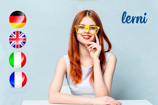 Aprende o mejora tu nivel de inglés cotidiano y de negocios, alemán, francés o italiano con el curso online de Lerni ¡Elige entre 3, 6, 12, 18 meses o acceso premium!