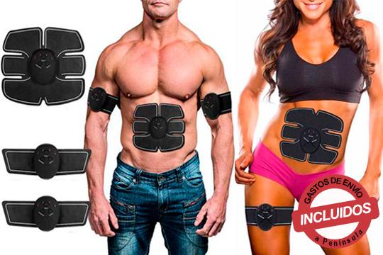 Bodygym es un entrenador muscular electrónico inalámbrico con sistema ABS que ajusta al abdomen, brazos o piernas