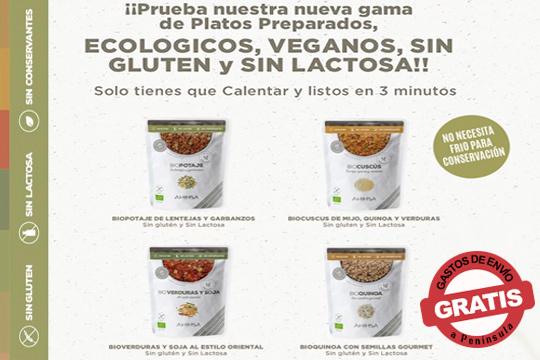 Nueva familia de productos veganos y ecológicos a base de legumbres, cereales y verduras ecológicos ¡Fuente de proteínas y fibra!