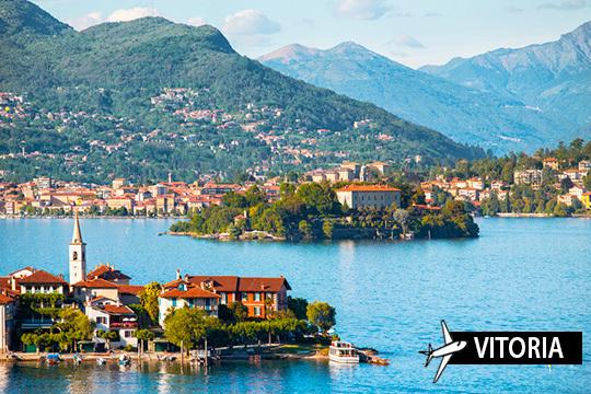 8 días de circuito por lagos del norte de Italia + visitas ¡Salida en vuelo directos desde Vitoria!