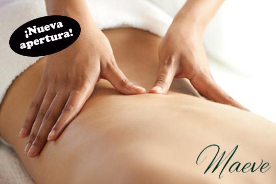 ¡Recupera el bienestar en Maeve! Elige entre 1 o 3 masajes relajantes o reductores