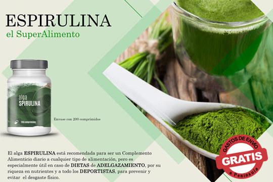 Adquiere tu alga Spirulina y aprovecha los beneficios que esta trae para tu cuerpo ¡Oferta válida durante los últimos meses del año!