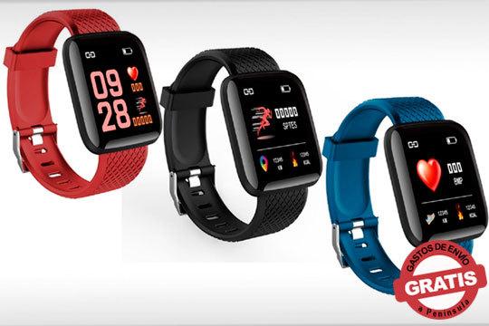 Recupera tus ganas de practicar ejercicio con el Smartwatch Deportivo Waterproof en 3 colores diferentes ¡Compatible con Android e iOS y multitud de funciones!