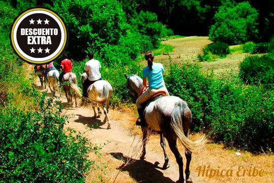 Disfruta de la naturaleza con un paseo a caballo en Hípica Eribe ¡Coje las riendas de un caballo!