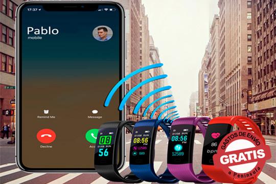Mide tu actividad diaria con esta pulsera con monitor de actividad, contador de pasos, y calorías, medidor de la frecuencia cardíaca, sensor de luminosidad y mucho más ¡Compatible con IOS y Android!