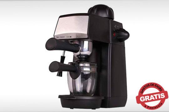 Cafetera espresso con sistema de espumador ¡Con todo el sabor de uno preparado por un experto!