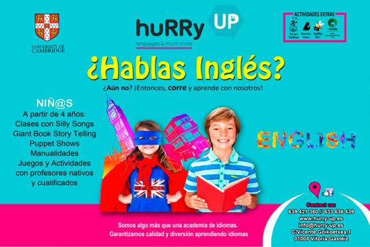 Clases de inglés con profesores nativos y cualificados en la Academia de inglés Hurry UP ¡Gran calidad y diversión!