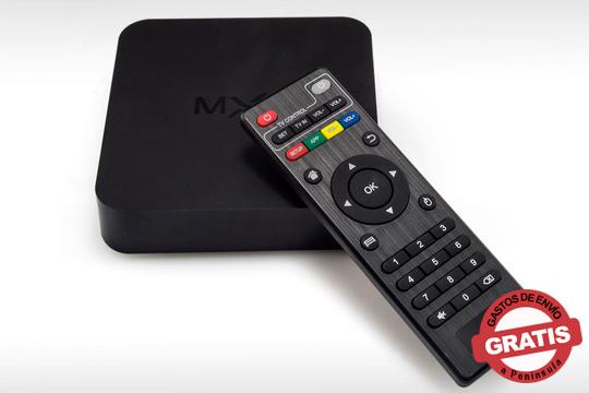 Sácale mayor provecho a tu televisor con esta smart box con mando a distancia ¡Puedes añadirle una memoria SD de hasta 32 GB!