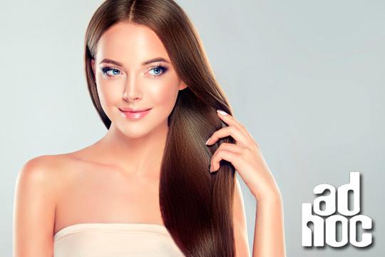 ¡S.O.S. pelo encrespado débil y sin brillo! Tratamiento vegano sin sufaltos, parabenos ni siliconas con sérum, peinado y opción a corte en Peluquería Adhoc