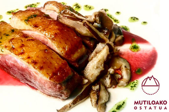 Exquisito menú de 5 o 7 platos a elegir de la mano de Iñaki Telleria (Mutiloa)