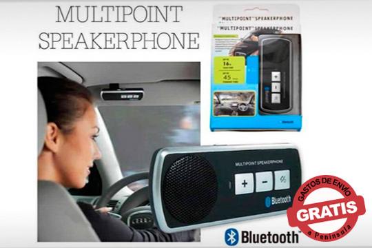 Conversa con compañeros de trabajo, familiares o amigos mientras conduces ¡Dispositivo bluetooth para coche con cargador de automóvil!