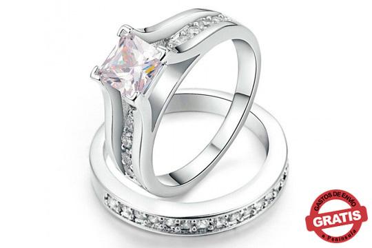 a2fd3a0668d5 Yepko - 2 anillos de compromiso preciosos ¡Una unión romántica y ...