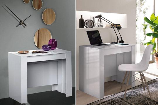 Mueble 2 en 1: Consola y Mesa extensible de comedor para hasta 10  comensales ¡Organiza tus cenas sin miedo al espacio!
