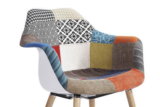 c83f0adf9 Productos Colectivia - Nueva silla Tower Wood Arms ¡Tapizado de Patchwork!  | Colectivia