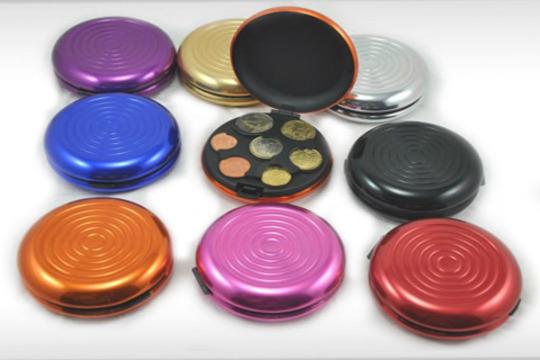 claro y distintivo como escoger nuevo diseño 2 Monederos de aluminio con clasificador de monedas por solo 9,9€ con envío  incluido ¡Tienes seis colores para elegir!